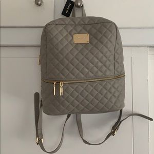 bebe grey backpack